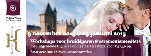 Workshop voor bruidspaar en ceremoniemeester